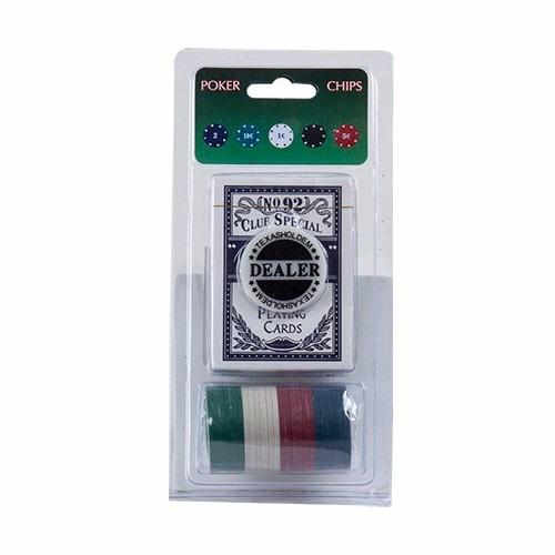 set de poker 24 piezas importado