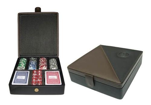 set de poker dommo burano 100 fichas + naipes / par de patos