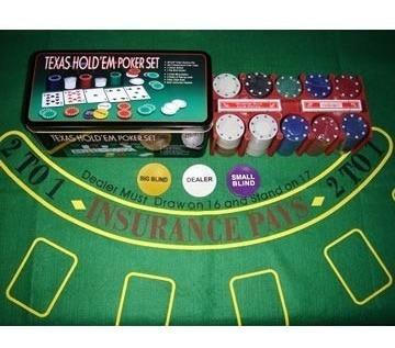 set de poker profesional texas hold em 200 fichas dealer
