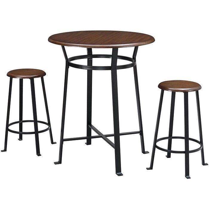 Set De Pub De 3 Piezas Sillas De Mesa Taburetes Bar En Casa