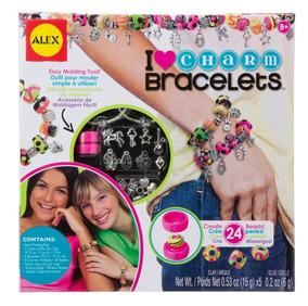 50a7108c1aeb Set De Pulseras De Dijes Alex Toys Diy I Love Charm Bracelet