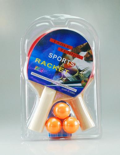 set de raquetas de ping pong tenis de mesa + 3 pelotas