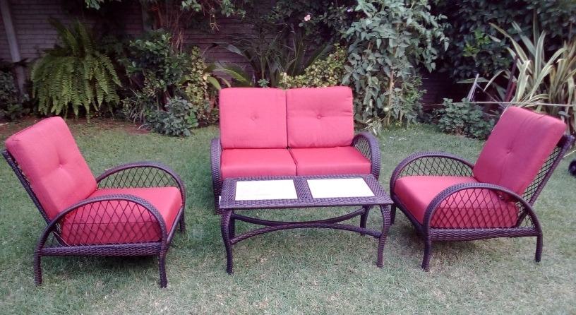 Set De Rattan Mesa Sofa 2 Sillones Jardin Exterior 3600000 - Sillones-jardin