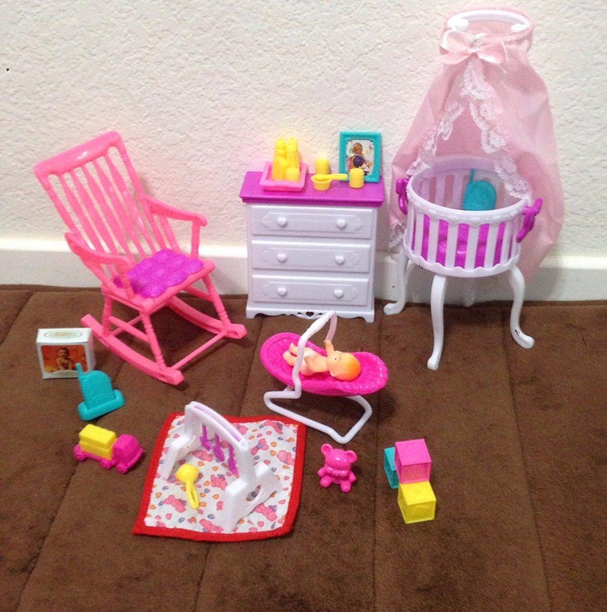 b654d2ed66fb0 Set De Recama De Bebe Barbie Marca Barbie. -   1