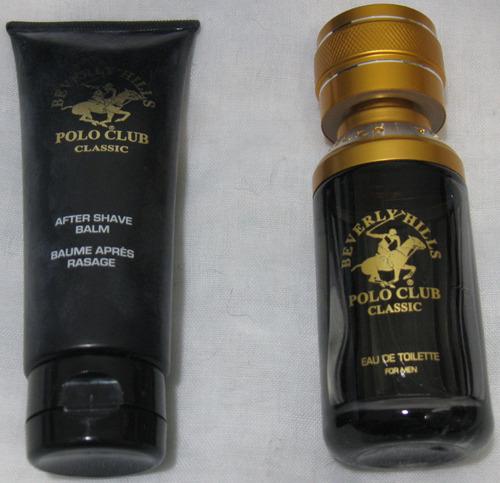set de regalo con colonia polo club de hombres y after shave
