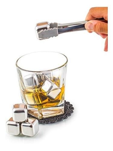 set de regalo exclusivo de piedras de whisky acero inox