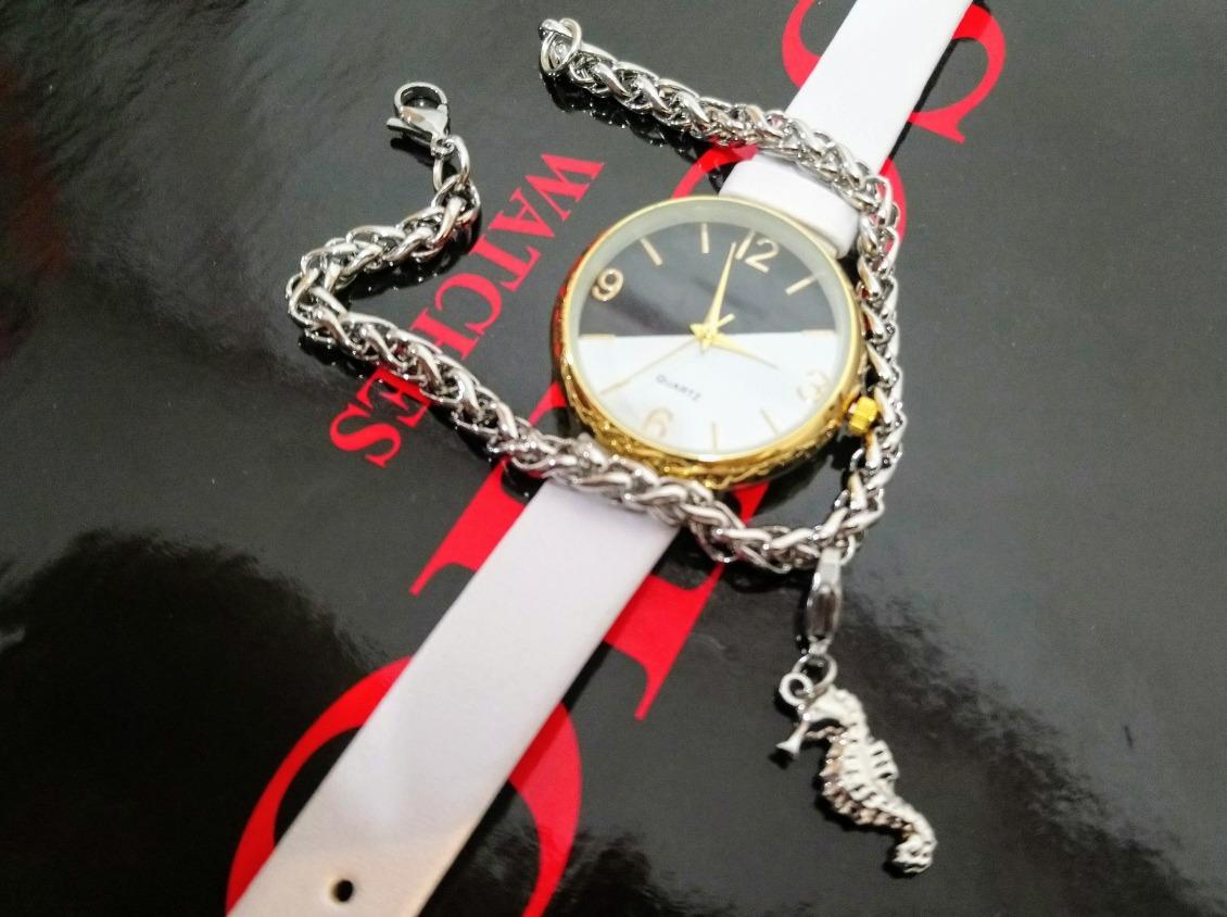 Set De Regalo Para Mujer Reloj + Pulsera Acero Quirúrgico -   685 d3ccd0405248