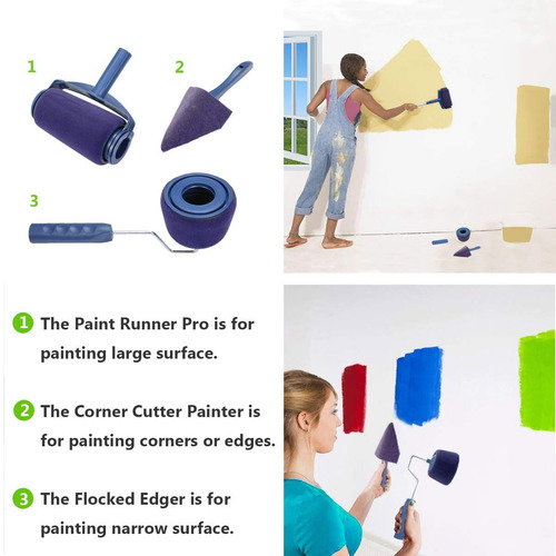 set de rodillos para pintar, paint runner pro, original