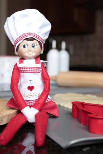 set de ropita de chef para the elf on the shelf