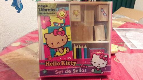 set de sellos de madera hello kitty novelty