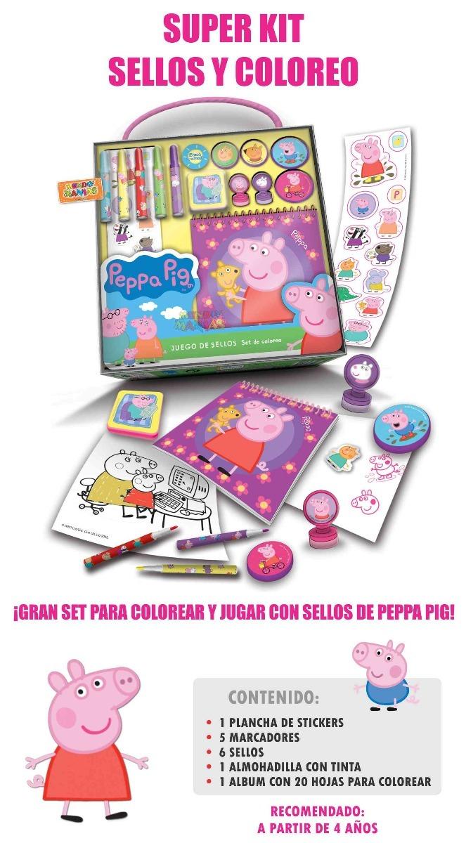 Set De Sellos Y Colorea Peppa Pig Tapimovil - Mundo Manias - $ 199 ...