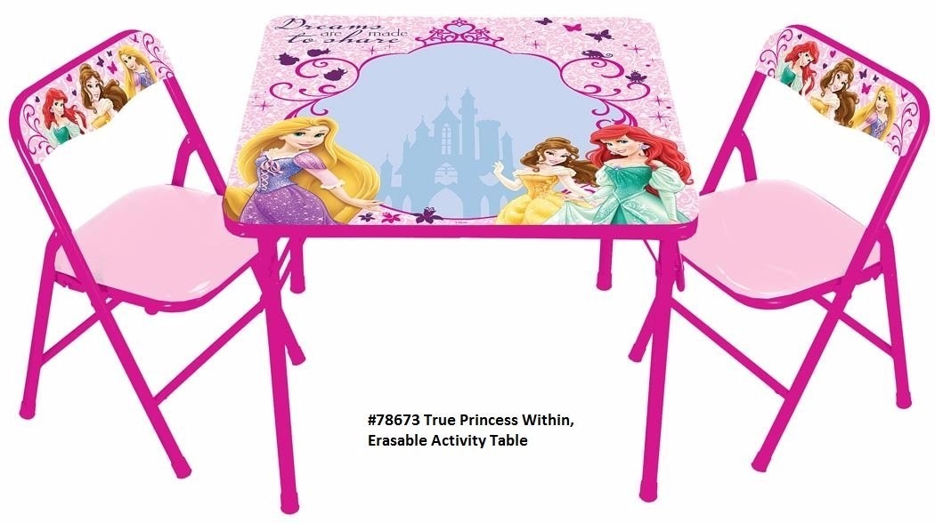 Set de silla y mesa borrable princesas disney importadas for Muebles de princesas
