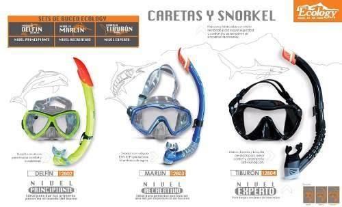 sale factory outlets buy good Set De Snorkel Marca Ecology Principiante Careta Buceo