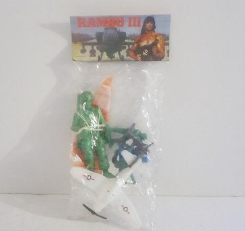 set de soldado paracaidas - soldadito de juguete antiguo