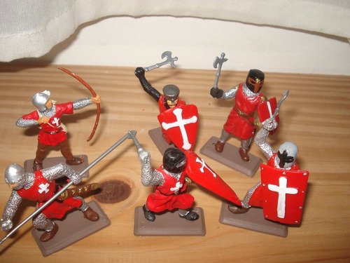 set de soldados medievales zona sur/caballito