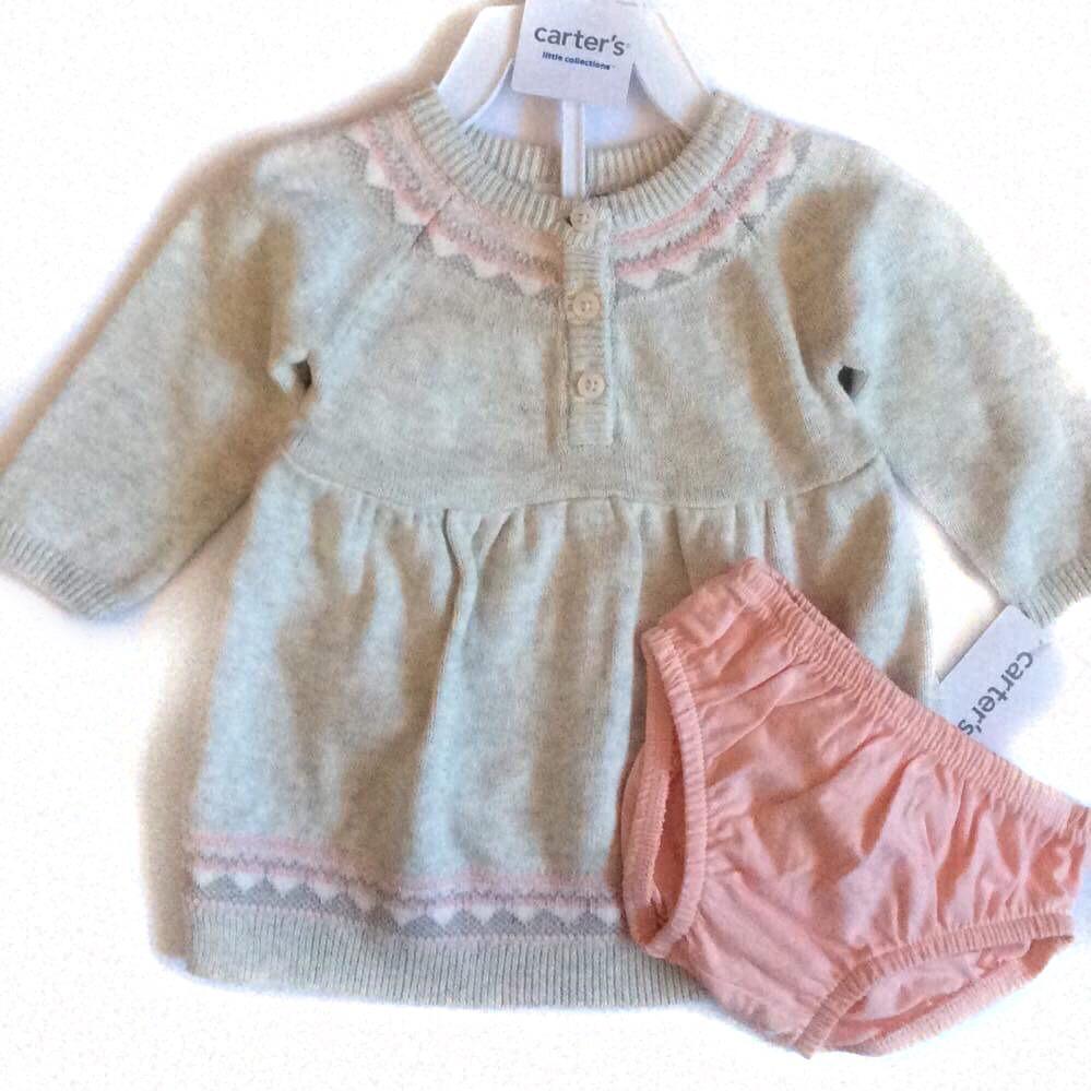 735813824e4 Set De Sweater Y Calzoncito Para Bebe 3 Meses Carters Rosa -   520.00 en Mercado  Libre