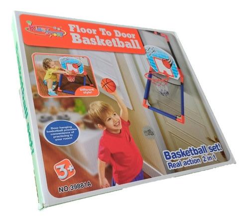 set de tablero con aro juego baloncesto opción piso y puerta