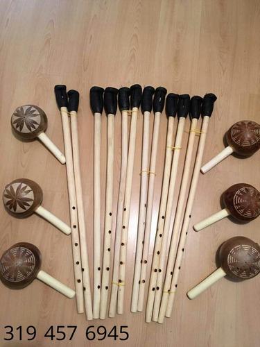 set de tambores para cumbia gaitas y maraca