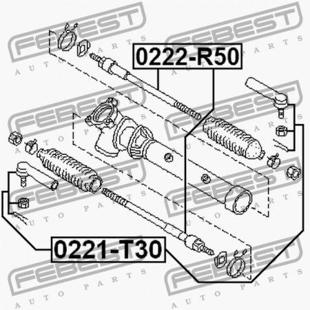 set de terminal y rotula  nissan pathfinder r50 98-04