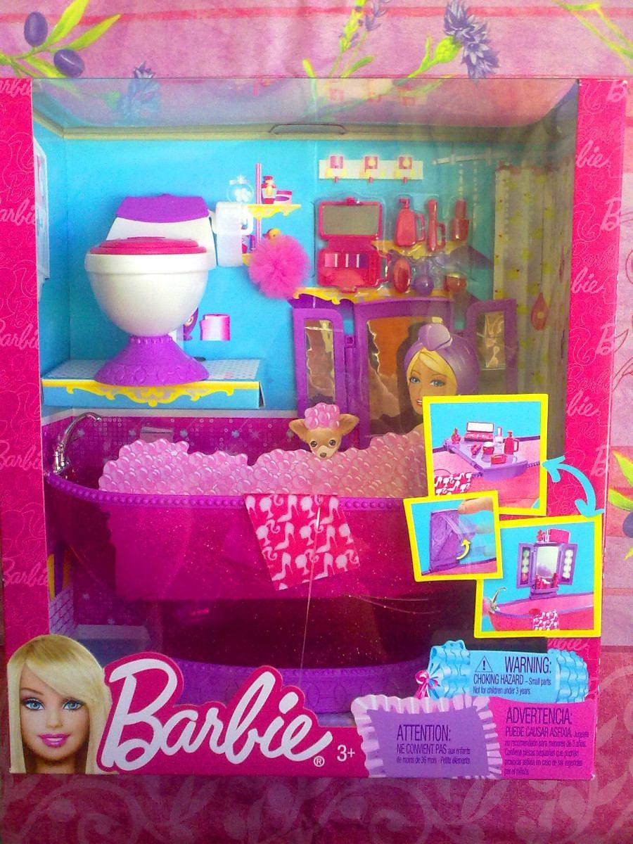 Set de tina de bano y accesorios para barbie en for Set de accesorios para bano