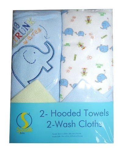 set de toallas para bebes marca spasilk baby