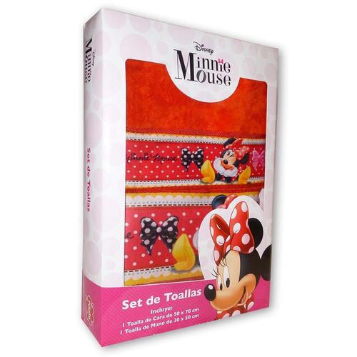 set de toallas (x2) disney - piñata original - minnie
