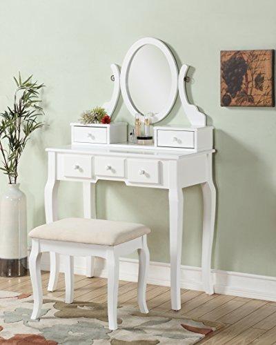 Set De Tocador Blanco Roundhill Furniture Ashley Wood