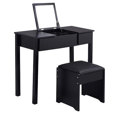 Bonito De Metal Negro Tocador Set Muebles Imagen - Muebles Para ...