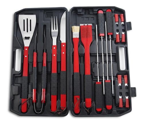 set de utensilios de barbecue, utensilios para carne asada