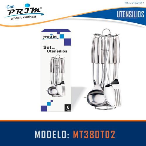 set de utensilios prim de 6 piezas en acero