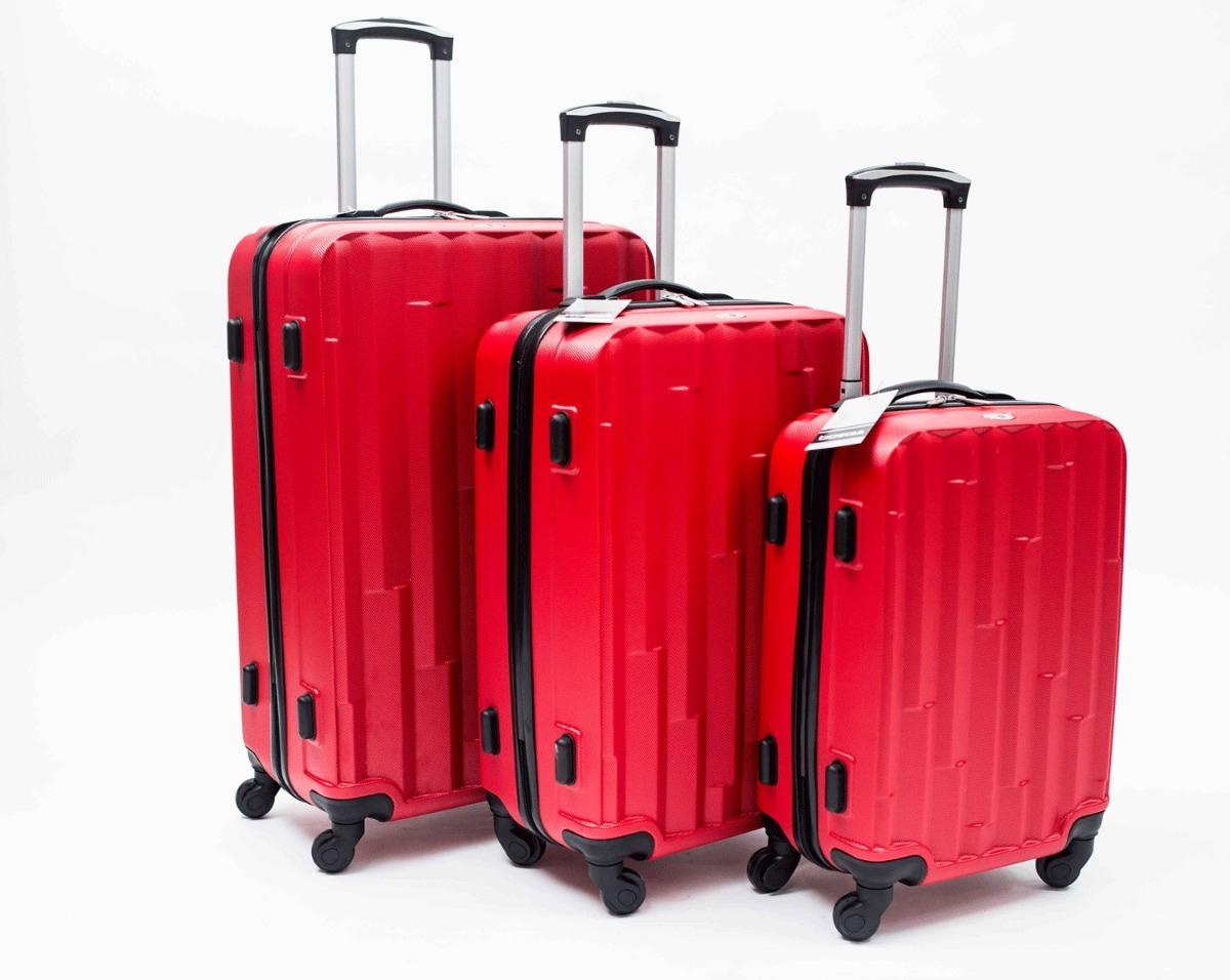 a91dff710 Set De Valijas Viaje Rigidas X 3 4 Ruedas Abs Boerss #43185 ...