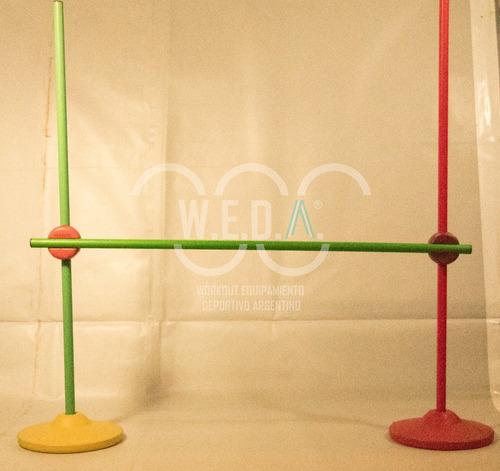 set de vallas plastica para entrenamiento.