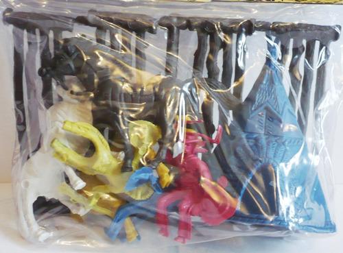 set de vaquero y apache - soldadito juguete maqueta bootleg