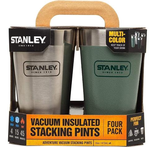 set de vasos x 4 acero inoxidable 473 ml stanley pintumm