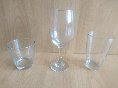 set de vasos y copas de 6 puestos 18 piezas cristar