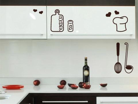Vinilos Para La Cocina   Set De Vinilos Adhesivos Decorativos Para Cocina 5 000 En