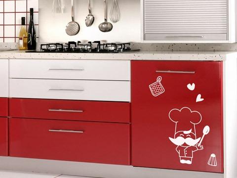 Set de vinilos adhesivos decorativos para cocina - Vinilos decorativos para muebles ...