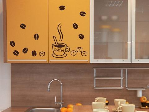 Set de vinilos adhesivos decorativos para cocina for Vinilos para cocina