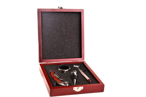 set de vino 4 piezas -regalo empresarial-grabado laser