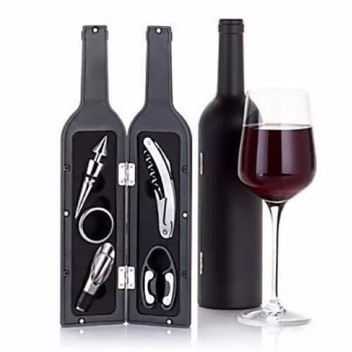 set de vino sacacorchos con forma de botella