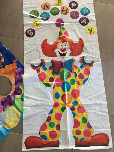 set deciracion para cumpleaños tematico circo importados