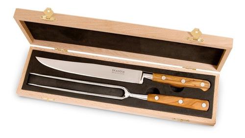 set deluxe 2 piezas madera de oliva hampton forge skandia