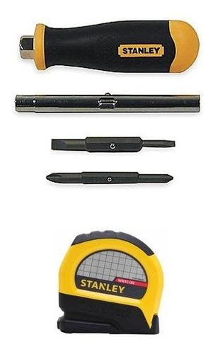 set destornillador multipuntas + cinta métrica de 8m stanley