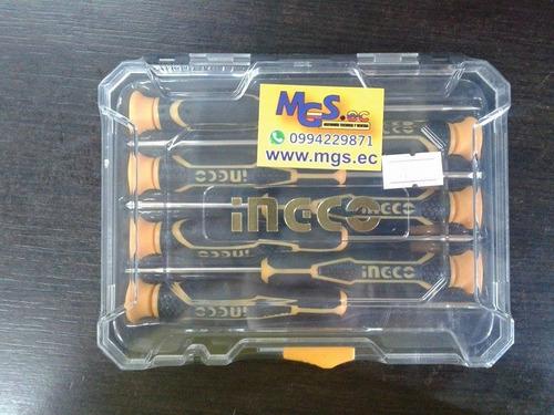 set destornilladores de precisión 7pcs industrial  ingco
