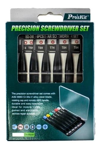 set destornilladores torx huecos perillero proskit sd-3502