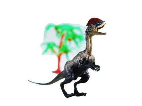 set dinosaurio juguete 3 piezas juego niños animales arboles