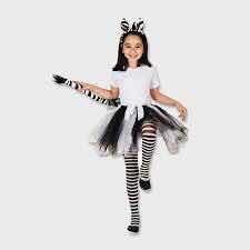set disfraz cebra para  mujer con 3 accesorios las condes