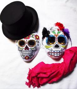 Set Disfraz Pareja Calavera Catrina Día Muertos Halloween