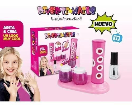 set diverti-nails lookea tus uñas con accesorios