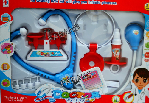 set doctora doctor botiquin kit medico 9pcs juguete niño